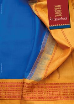 "What's deep sea blue and yellow with lively swimming fishes? This saree, ofcourse! Doesn't it conjure up the image of ""row, row, row your boat, gently down the stream; merrily, merrily merrily, life is but a dream.#Utppalakshi #Sareeoftheday#Silksaree#Kancheevaramsilksaree#Kanchipuramsilks #Ethinc#Indian #traditional #dress#wedding #silk #saree#craftsmanship #weaving#Chennai #boutique #vibrant#exquisit #pure #weddingsaree#sareedesign #colorful #elite"
