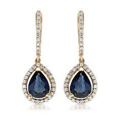 Ørehængere i 14 karats guld med diamanter og dråbeformet smaragder fra Bartoli Watches Online, Elegant, Personalized Jewelry, Jewelry Shop, Turquoise Necklace, Pendant Necklace, Drop Earrings, Shopping, Earrings