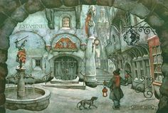 Anton Pieck - had this on my wall in the 80's.