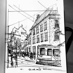 "307 Likes, 1 Comments - urbansketcher (@kimkanone_) on Instagram: ""#draw#drawing#düsseldorf#sketch#sketching#sketchaday#urbansketch#urbansketchers#dessin#urban#daily#architecture#그림#art#artwork#travel#illust#드로잉#painting#здание#line#street#스케치#путешествие#искусство#Voyager#ve#dibujo#çizim#risanje"""