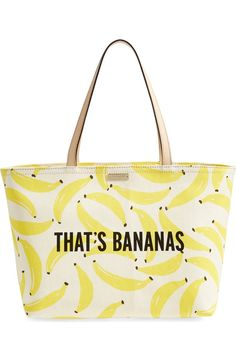 Free shipping and returns on kate spade new york 'that's bananas - francis' tote at Nordstrom.com. It's summertime in the style department with this durable, beautifully designed banana-print tote from kate spade.