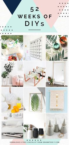 52 Weeks of DIY Projects and Ideas | @DrawntoDIY