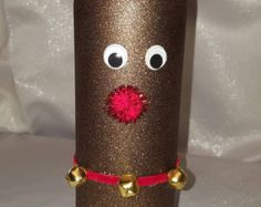 Wine bottle handpainted with snowman...colored by theantiquepallet