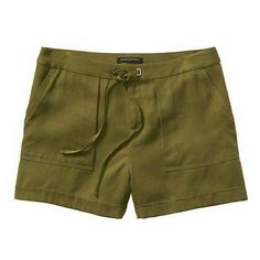 "BANANA REPUBLIC Shorts New with tags attached 4.5"" inseam   100% Tencel. Machine wash. Imported.  PRODUCT DETAILS Made exclusively for Factory Stores. Tie-front waist. Front off-seam pockets. Rear welt pockets. Banana Republic Shorts"