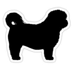 Shih Tzu Silhouette stickers, t-shirts, and electronics cases ...