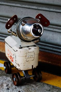 how much is that doggy in the window?  #recycled #scrap #junk