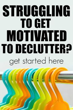 Decluttering 101 How to Get Started and Stay Motivated is part of Organization Bedroom Declutter - Finding the motivation to start to declutter is difficult Here are some stepbystep tips and tricks to get you started and stay motivated Home Organization Hacks, Organizing Your Home, Organising, Planner Organization, Organizing Tips, Closet Organization, Getting Rid Of Clutter, Getting Organized, Organized Home