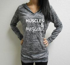Hey, I found this really awesome Etsy listing at https://www.etsy.com/listing/178865906/muscles-and-mascara-hoodie-running