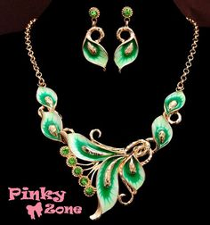 #gold #plated 18K #jewlery set , #necklace #earrings follow us on our fb group for more items and orders