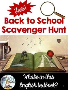 Do your students know how to navigate their textbooks? Use this Back to School Scavenger Hunt to help them become familiar with their English textbook.