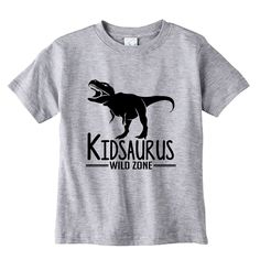 Kidsaurus Heather Kids Shirt by bodysuitsbynany on Etsy