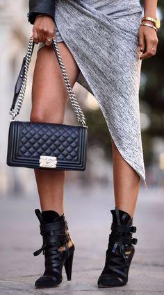 #street #fashion boots Chanel @wachabuy
