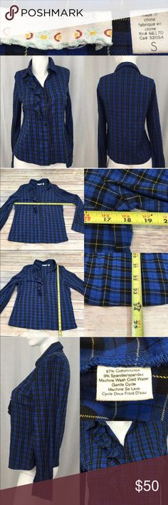 💛Sz Small UO Kimchi & Blue Plaid Button Down Top Measurements are in photos. Normal wash wear, no flaws. D1  I do not comment to my buyers after purchases, due to their privacy. If you would like any reassurance after your purchase that I did receive your order, please feel free to comment on the listing and I will promptly respond. I ship everyday and I always package safely. Thanks! Urban Outfitters Tops Button Down Shirts