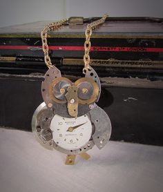A personal favorite from my Etsy shop https://www.etsy.com/listing/267801870/watchpart-owl-pendant-necklace-steampunk
