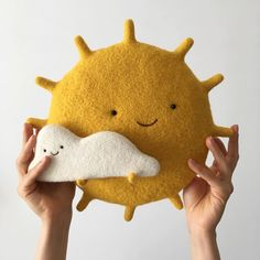 """""""Oh, your love is sunlight"""" © inspired by song """"Sunlight"""" made by P. Item is already sold Baby Toys, Kids Toys, Sewing Projects, Craft Projects, Felt Toys, Felt Art, Felt Animals, Handmade Toys, Felt Crafts"""
