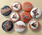 """10Pc Baltimore Orioles 1"""" Flatback Buttons, Crafts Cabachons Hairbows"""