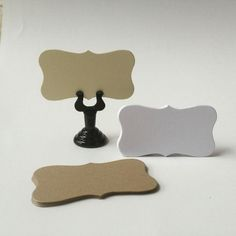 50 Mini Blank Place Cards, Flat Wedding Escort Cards, Curved Edge Cards, Table Seat Cards, DIY Wedding Escort Cards, Name Cards, E001