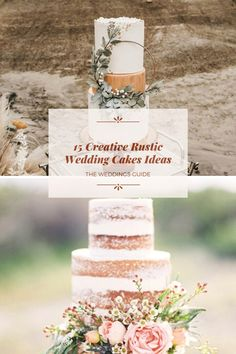 Creative Rustic Wedding Cakes Ideas #weddingcake Pretty Wedding Cakes, Wedding Cake Rustic, Amazing Wedding Cakes, Diy Wedding, Dream Wedding, Wedding Ideas Board, Wedding Bouquets, Place Card Holders, Nice