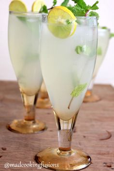 Nimbu pani ( lemonade ) - not normally served in such ornate glasses but yum when its hot and thirst quenching.