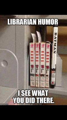 22 Book Lovers Who Are Doing It Right - Batman Funny - Funny Batman Meme - - Library humor. See how long it takes you to get the joke. I hope not long! Funny Jokes Humor The post 22 Book Lovers Who Are Doing It Right appeared first on Gag Dad. Dc Memes, Memes Humor, Funny Jokes, Nerd Humor, Funny Captions, Funny Texts, Abc Family, Memes Do Momento, Humor Batman
