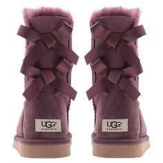 UGG Boots with Bows- love the purple color!