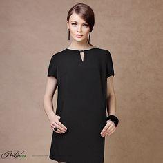 маленькое черное платье с ботильонами