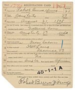 World War I draft cards, from the National Archives--A great place to do ancestry research!