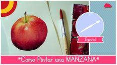 Curso de Acuarela: como pintar una manzana (facil para principiantes) by...