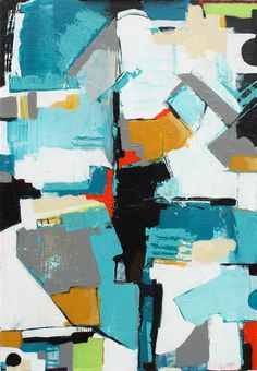 Discover Original Art for Sale Online at UGallery | Coastal Abstract 1 acrylic painting by Scott Troxel