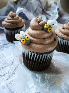 Gross Poop cupcakes. Maybe one day I will make these for someone I want revenge on. (Evil smile.)