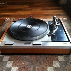 Thorens turntable with SME tonearm and Goldring cartridge