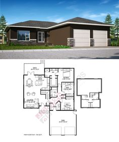 The Cloverdale Floor Plan House Building, House Floor Plans, New Construction, Homes, Flooring, How To Plan, Architecture, Projects, Plants