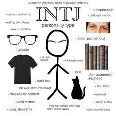 Character Personality, Intj Personality, Myers Briggs Personality Types, Intj Enfp, Mbti Charts, Intj Humor, Intj Women, Dark Eye Circles, Psychology Facts