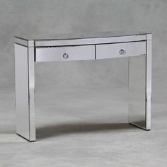 Venetian 2 Drawer 'Modena' Curved Glass Dressing Table