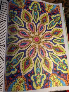 Mandala coloreado #arteantiestres