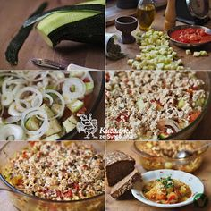 Kuchařka ze Svatojánu: CUKETA ZAPEČENÁ S RAJČATY A TOFU Tofu, Pasta Salad, Ethnic Recipes, Crab Pasta Salad