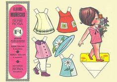 Attraverso le bambole di carta e i loro accessori è possibile osservare le trasformazioni del costume e della società. Le quattro tavole sopra raffigurate sono state pubblicate dall'Editorial Roma nel 1968.