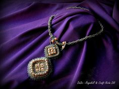DaDa  Hand made embroidered and beaded necklace  by CraftNicheDili