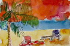 Tropical Beach in Jamaica print