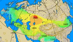 Historical spread of the chariot. Dates given in image are approximate BC years.