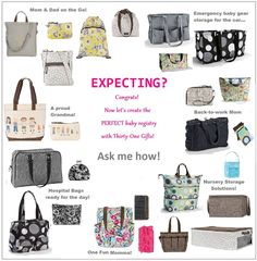 baby gift ideas from Thirty-One Gifts. You or someone you know expecting, please visit my website to make their life easier.