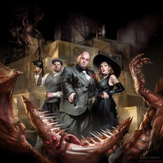 Denizens of the Underworld by sheppardarts on DeviantArt : Digital cover illustration for the Call of Cthulhu game series, published by Fantasy Flight Games. ©2013 FFG LLC