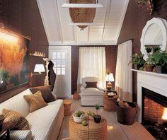 Nantucket cottage modern living room
