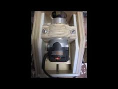 Home made router lift - YouTube
