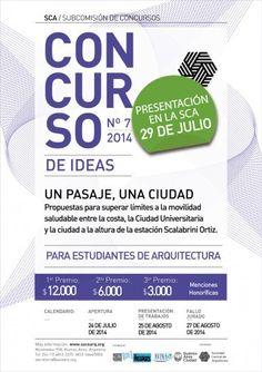 """Concurso Nacional de Ideas para estudiantes de arquitectura """"Un Pasaje, una Ciudad"""" / Argentina"""