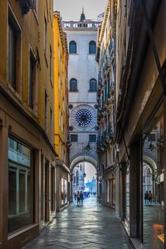 Walking down this corridor behind the Orologio, and emerging into the dazzling Piazza, unforgettable.