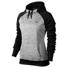 Gray and black Nike hoodie
