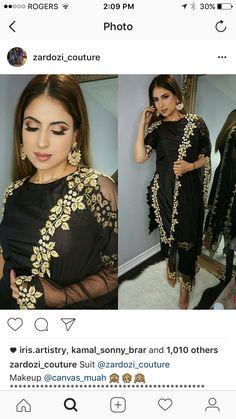 Pajami suits Black Punjabi Suit, Indian Suits Punjabi, Punjabi Salwar Suits, Indian Attire, Indian Wear, Indian Outfits, Indian Clothes, Punjabi Fashion, Indian Fashion