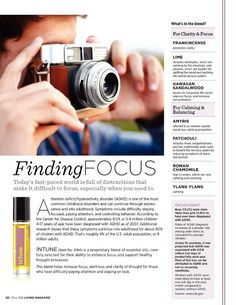 Finding Focus with the blend inTune dōTERRA Essential Oils 101, Young Living Essential Oils, Roller Bottle Recipes, Improve Concentration, Roman Chamomile, Living Magazine, Doterra Oils, Diffuser Blends, Alternative Health