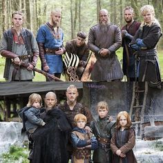 Ragnar and his sons - as children and then adults
